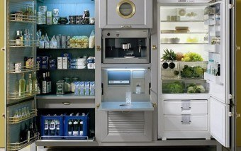 Meneghini La Cambusa Refrigerator Completes Your Kitchen