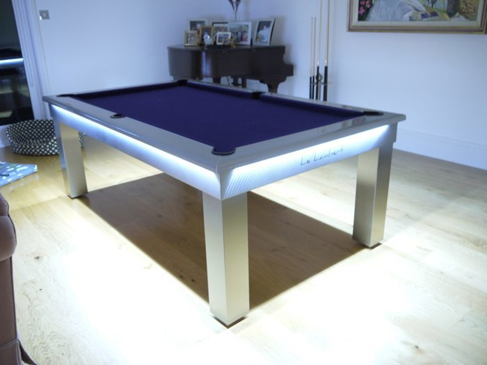 Lambert LED Slate Bed Pool Dining Table - Modern slate pool table