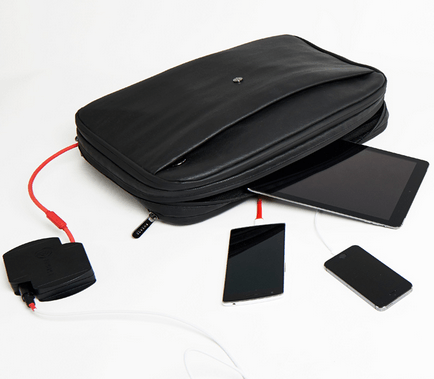 Phorce Pro Bag Charges Laptops, Tablets [App Enabled]