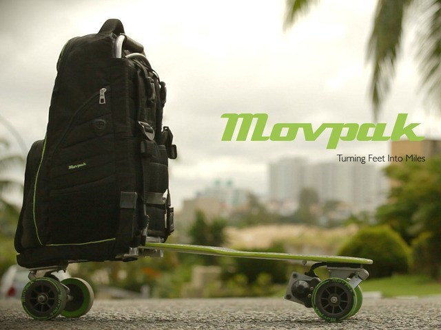 Movpak Backpack + Electric Vehicle