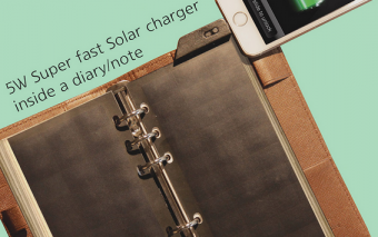 Solar Page Charger Fits In Your Binder