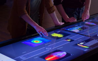 Ideum 8K 100″ Pano Multitouch Table In Action
