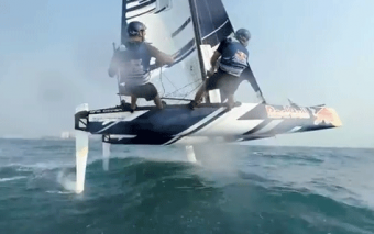 6 Meter Hydrofoil Catamaran In Action