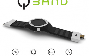 QBAND: Solar Watch + Smartphone Charger?