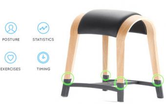 Zami Smart Stool Promotes Active Sitting [Bluetooth]