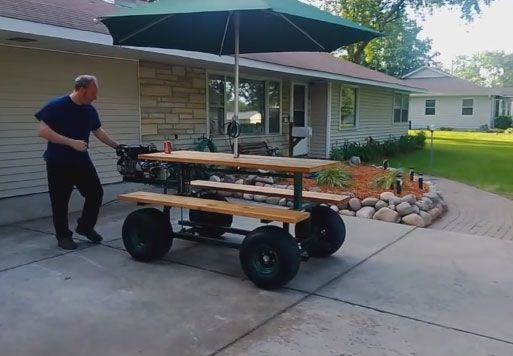Gaspowered Motorized Picnic Table - Motorized picnic table for sale