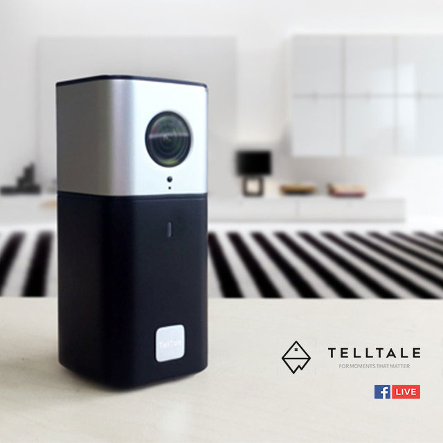 TellTale 4K Action Camera & Home Monitor with Facebook Live