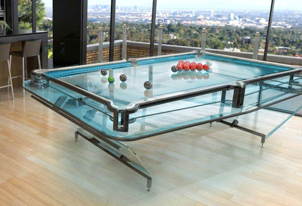 Enjoyable X1 Glass Pool Table Home Interior And Landscaping Ferensignezvosmurscom