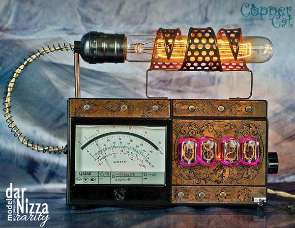 darNizza Rarity Steampunk Nixie Tube Alarm Clock
