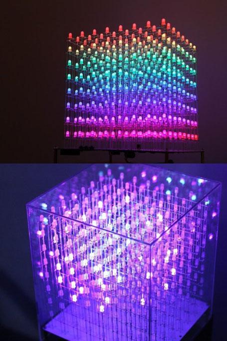 Aura Cube: 8x8x8 3D RGB LED Cube