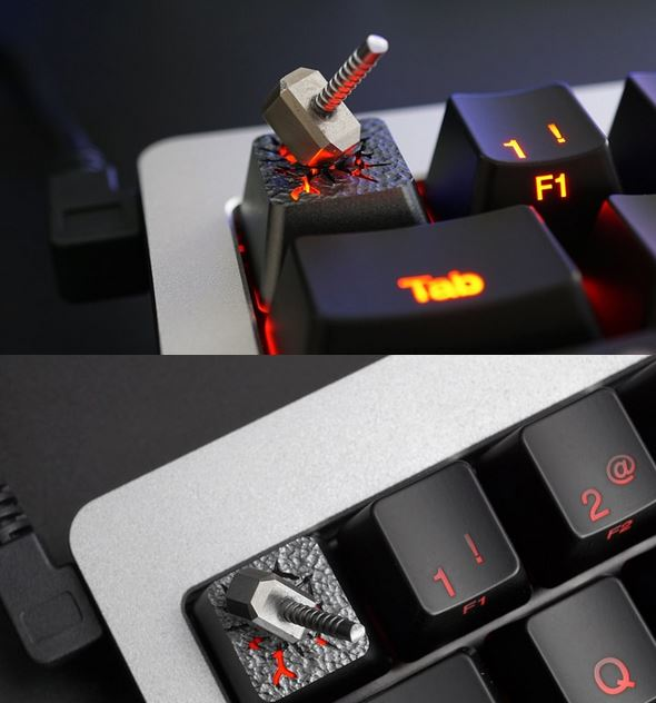 Thor's Hammer Key Cap for Mechanical Keyboards