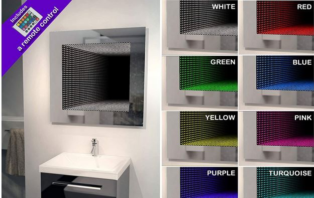 Infinity mirrors are fun to stare at. The DIAMOND X Infinity Mirror is designed to give your bathroom a cooler look. It has 120 x 0.1watt RGB LEDs with ...