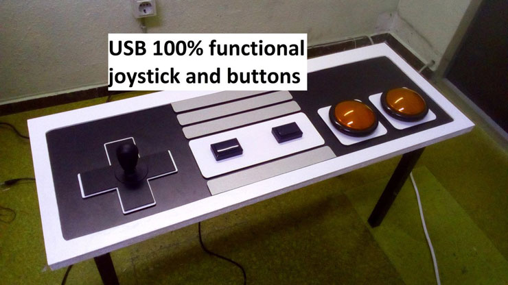 Controller Coffee Table.Nintendo Nes Controller Coffee Table With Functional Buttons Joystick