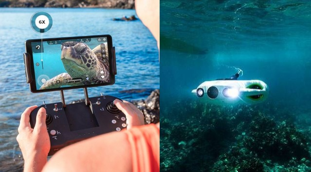 BW Space Pro 4K Zoom Underwater Drone with App Control