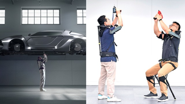 Hyundai's VEX Wearable Robot Assists with Overhead Tasks