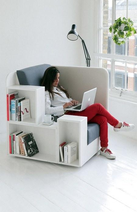 chair bookshelves