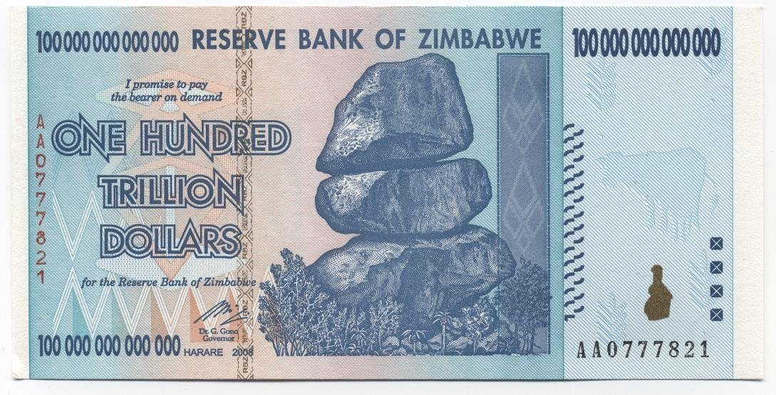 trillion dollar bill