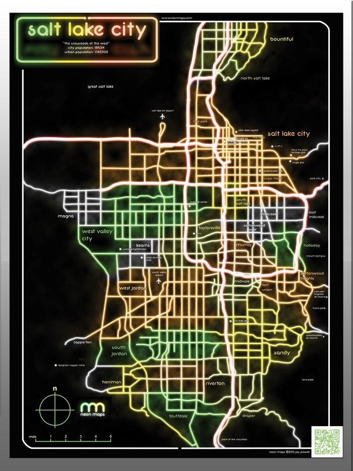 neon maps