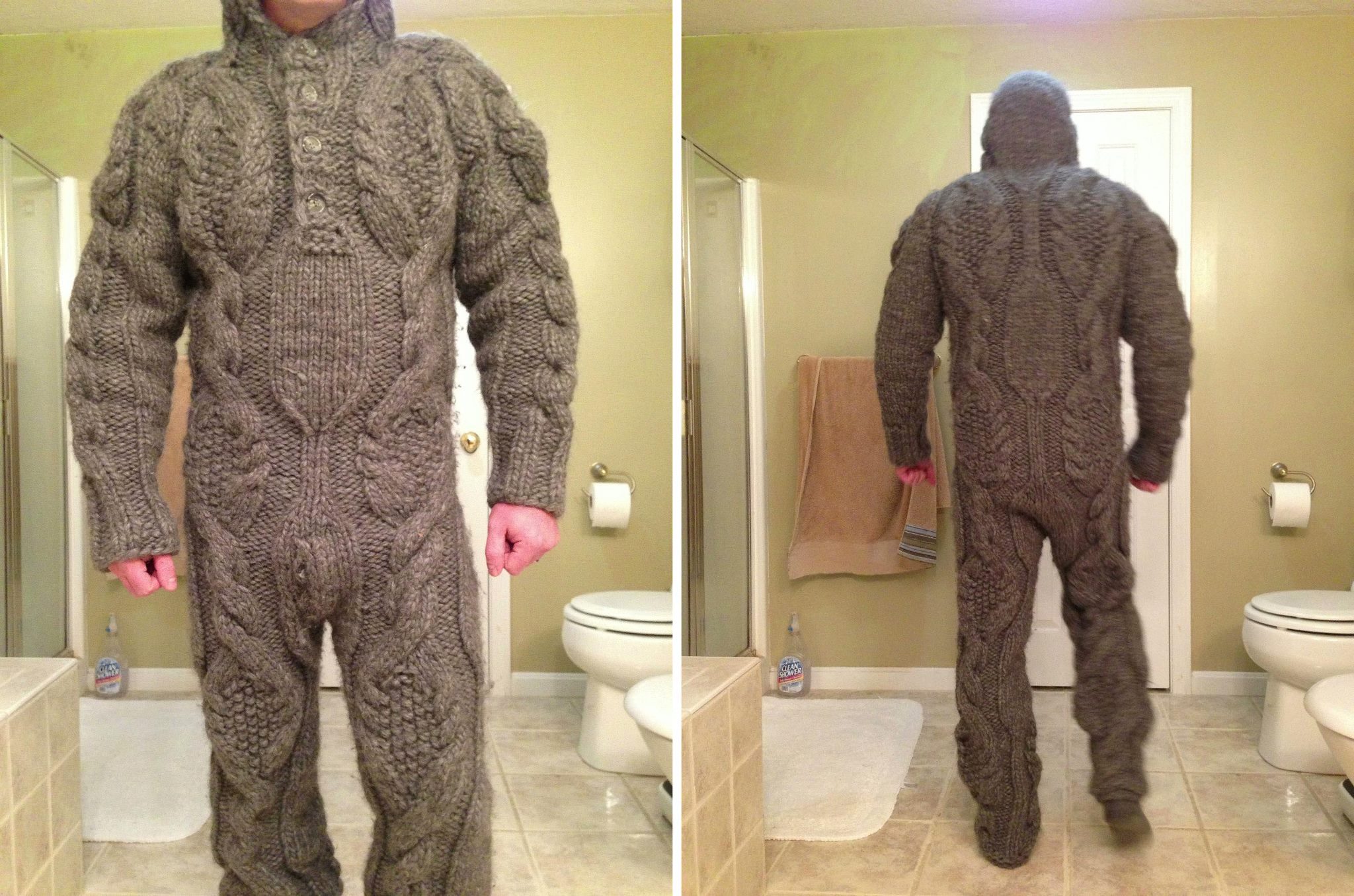 Full Body Knitted Suit