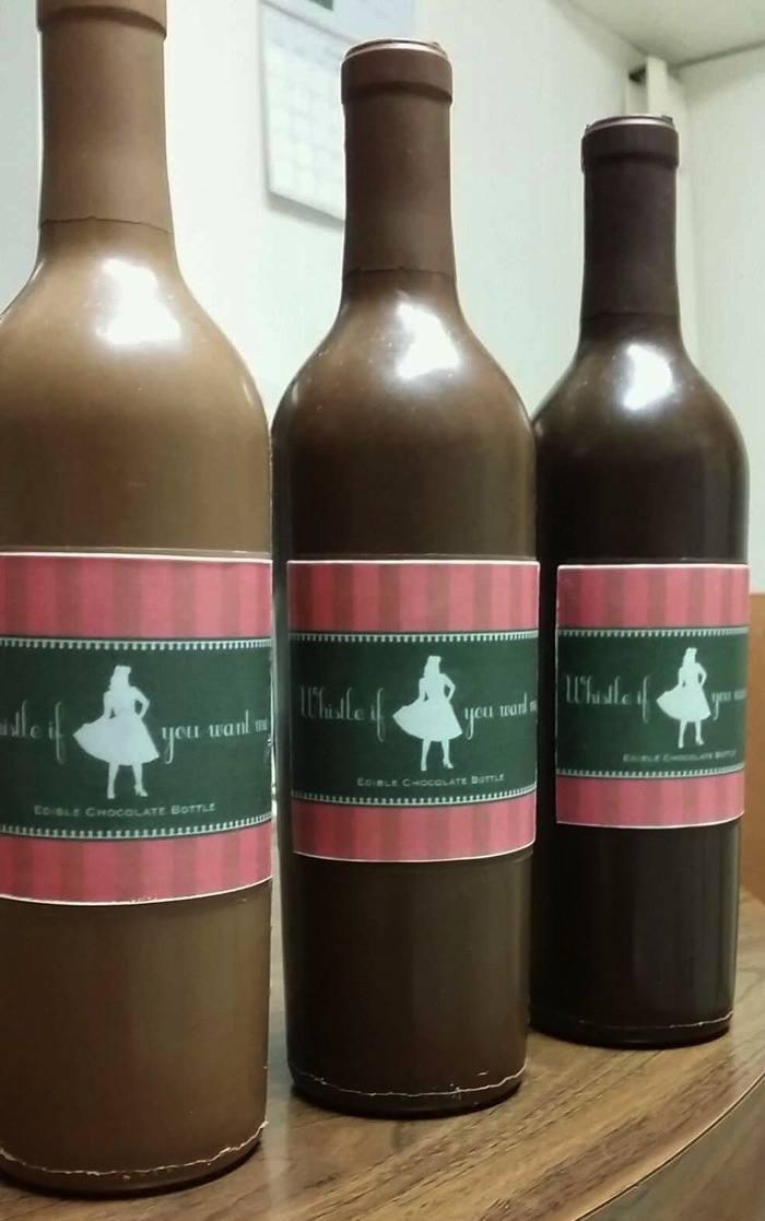 chocolate wine bottle