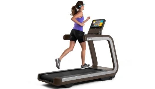 glass treadmill