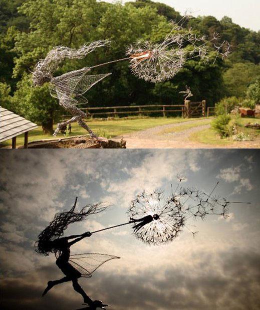 1-O'clock-Wish-Fairy-Wire-Sculpture