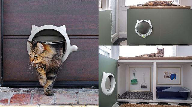 Lynx Cat Door For Interior Exterior Doors